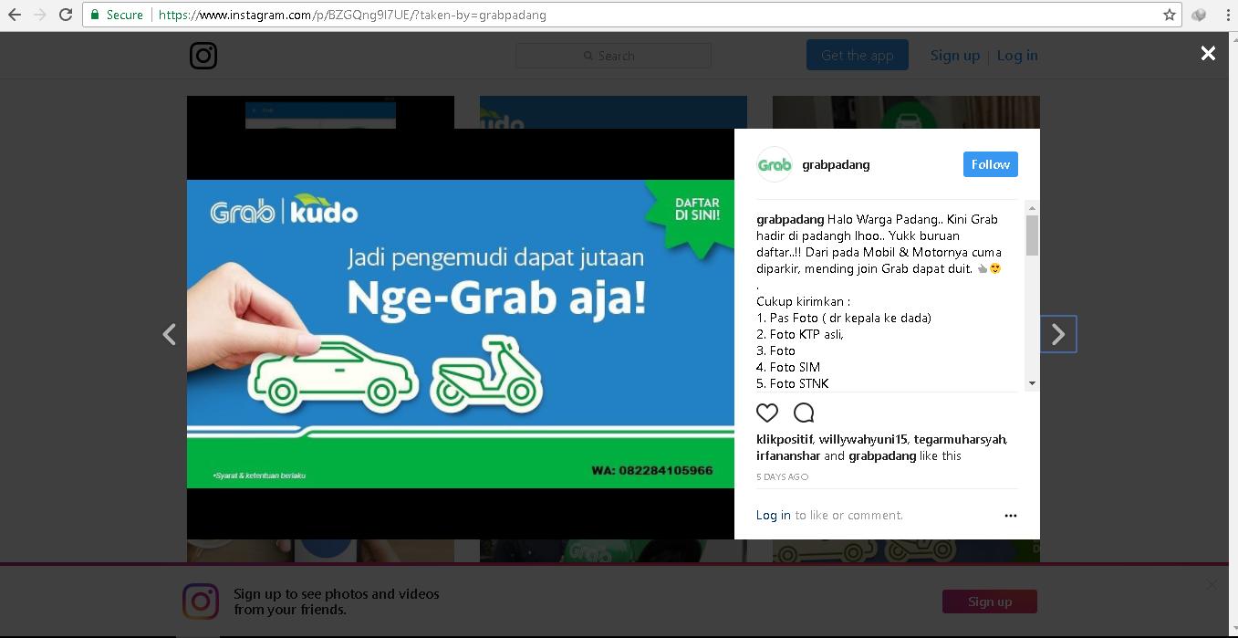 Instagram @grabpadang.