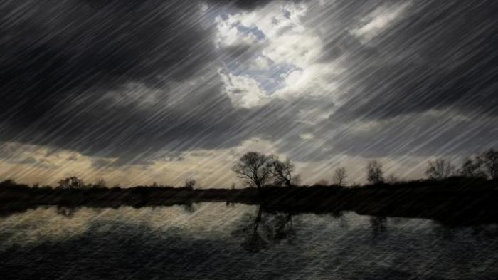 Ilustrasi cuaca buruk.