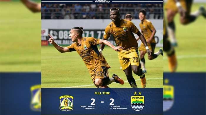 Pertandingan Persib Bandung VS Persiba Balikpapan berakhir imbang. by Instagram.