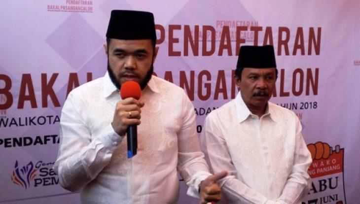 Bakal Calon Walikota dan Wakil Walikota Padang Panjang Fadly Amran dan Asrul