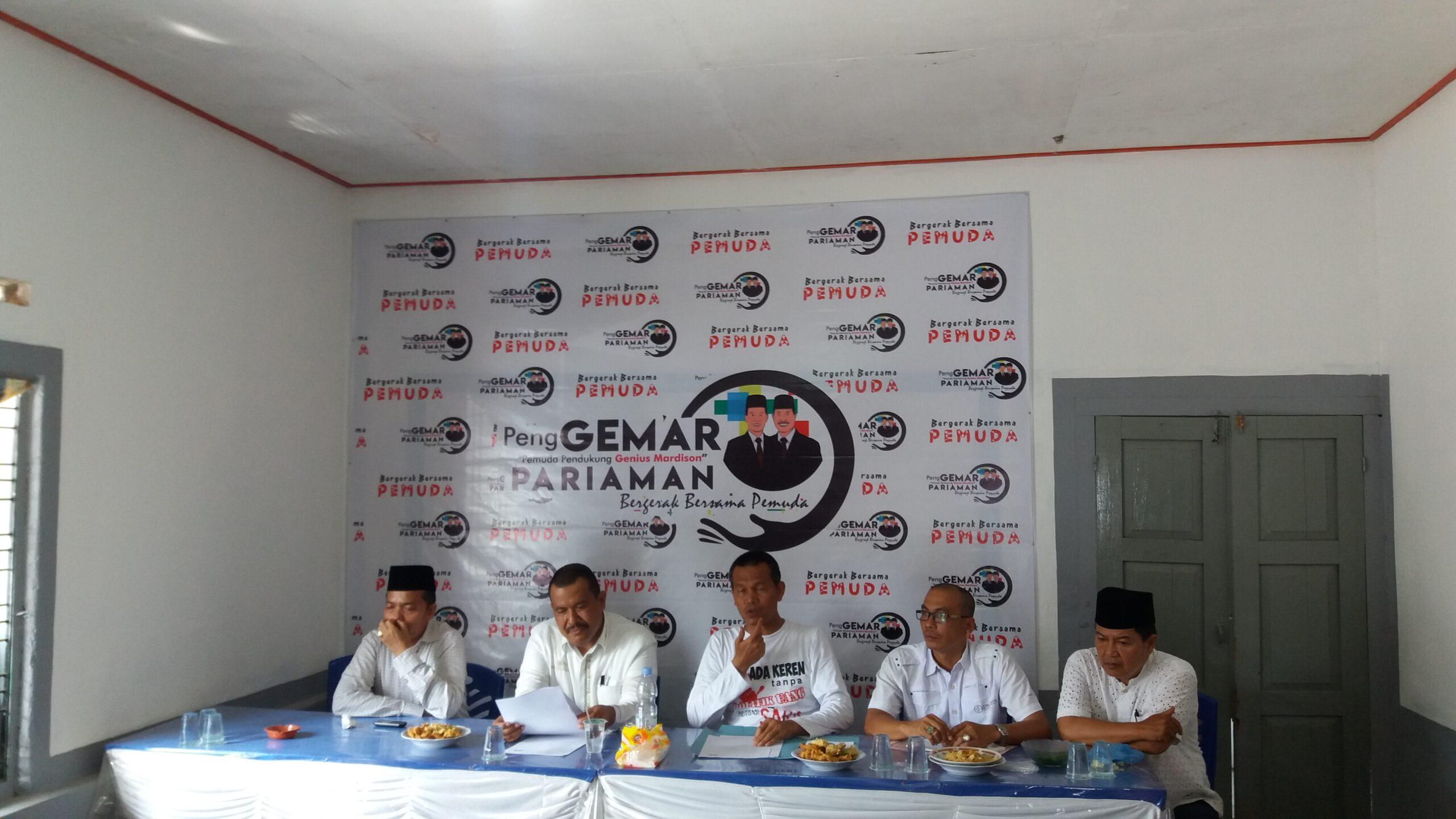 Bedah visi dan misi paslon Genius-Mardison pada Pilkada Kota Pariaman 2018 di posko pemenangan di Kampung Baru, tepatnya didepan kampus STIT, Kota Pariaman. Foto : Rizki Pratama