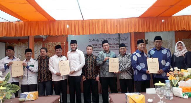 Rapat Pleno KPU Kota Padang Panjang dalam menetapkan nomor urut pasangan calon Walikota dan Wakil Walikota Padang Panjang tahun 2018