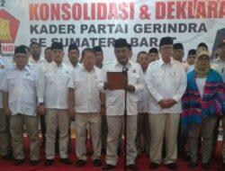 Kader Gerindra se-Sumbar Deklarasi Prabowo Maju di Pilpres 2019