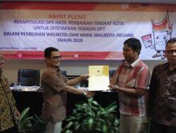 KPU Tetapkan DPT Pilkada Kota Padang Mencapai 535.265 Pemilih