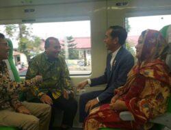 Jokowi Resmikan Kereta Api Bandara Internasional Minangkabau