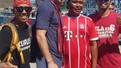 Mr Arjeen Robben, pemain timnas Belanda dan klub Bayern Munchen tiba di Labuan Bajo bersama keluarga untuk liburan, Photo : Ahyar Abadi