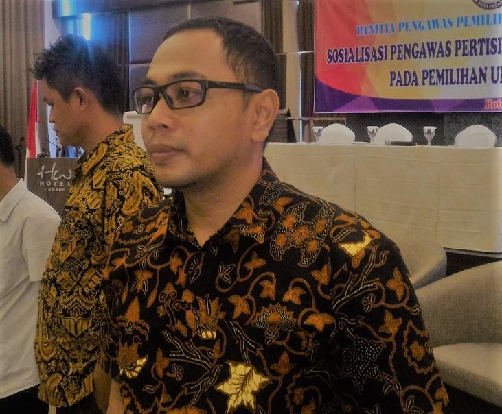 Ketua Panswaslu Kota Padang, Sumatera Barat, Dori Putra. Dok. kabarsumbar