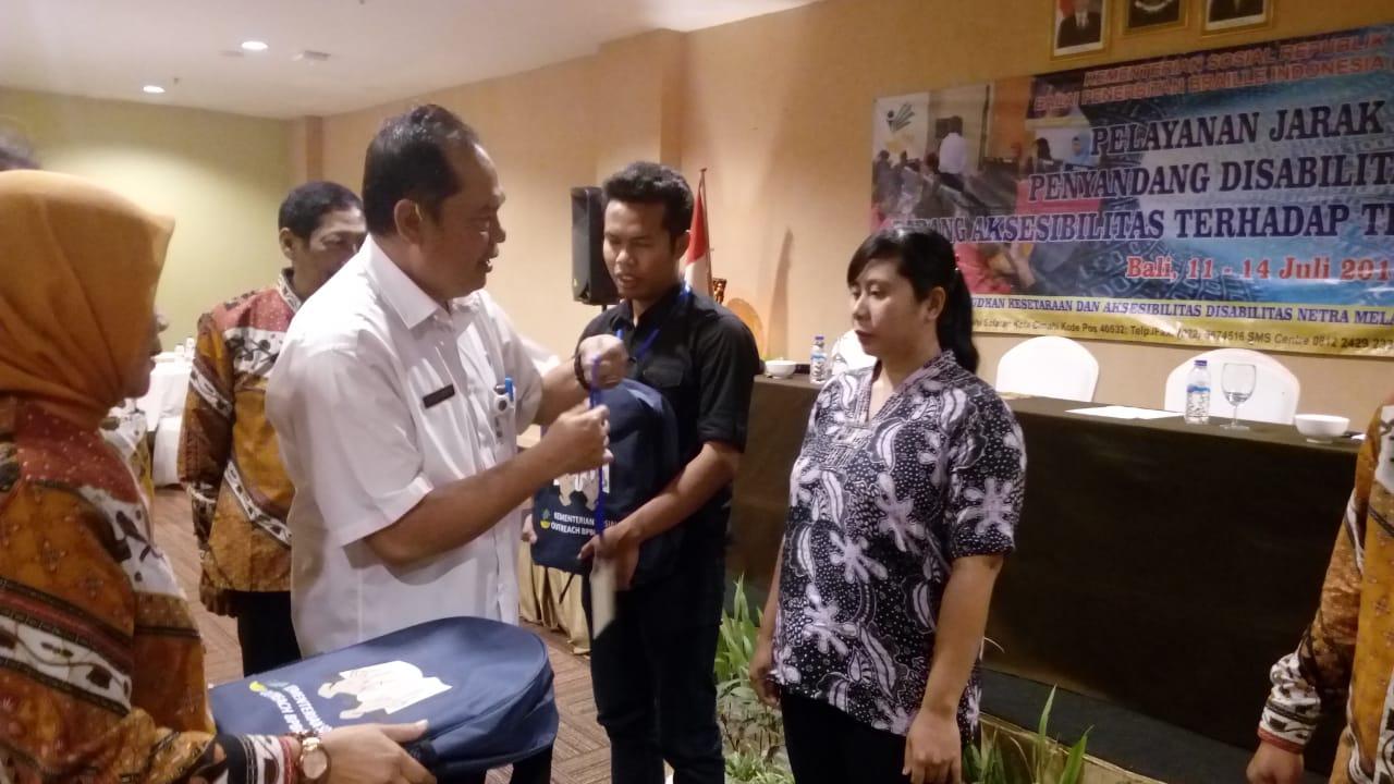 Balai Penerbitan Braile Indonesia (BPBI) Abiyoso Bandung melaksanakan Kegiatan Pelayanan Jarak Jauh Penyandang Disabilitas Netra