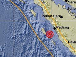 Dini Hari, Gempa 5,4 Skala Richter Guncang Sumbar