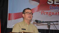 Wakil Gubenur Sumatra Barat (Sumbar) Nasrul Abit aat memberikan kata sambutan pada Seminar Perkoperasian dalam Rangka Peringatan Hari Koperasi ke 71 tahun 2018 dengan tema Penguatan Koperasi Mendorong Pertumbuhan Ekonomi Nasional, di Hotel Bumi Minang, Selasa (24/07/2018). Foto : Putri Caprita