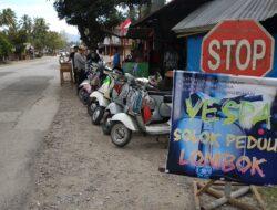 Galang Dana, Komunitas Vespa Solok Bantu Korban Gempa Lombok