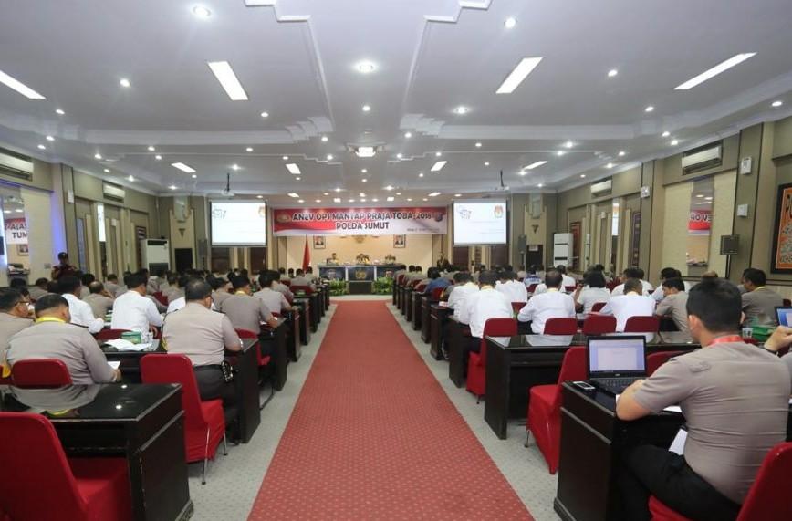 Anev Ops Mantap Praja Toba-2018 Polda Sumatera Utara