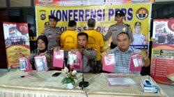 Konferensi pers penangkapan bandar narkoba jenis Sabu oleh Polres Solok Kota, Jumat 21 September 2018. Foto : Fernandez