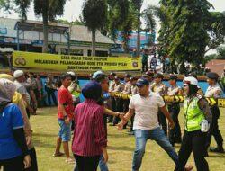 Massa Nekad Serang KPU, Polres Tanah Datar Turunkan 1 Pleton Dalmas