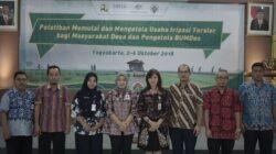 Pelatihan memulai dan mengelola usaha irigasi tersier bagi masyarakat desa dan pengelola BUMDes, Yogyakarta 2-6 Oktober 2019.