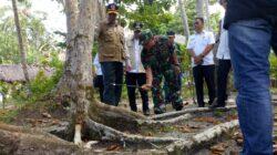 Kepala Badan Nasional Penanggulangan Bencana (BNPB) Letjen Doni Monardo saat meninjau kondisi pulau Simakakang Aloita Mentawai, Rabu (6/2/2019).