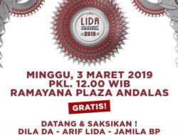 Pekan Ini, Demam LIDA 2019 Akan Hadir Di Padang