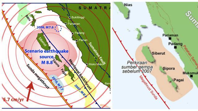 Skenario Megathrust Mentawai. Foto : Liputan6