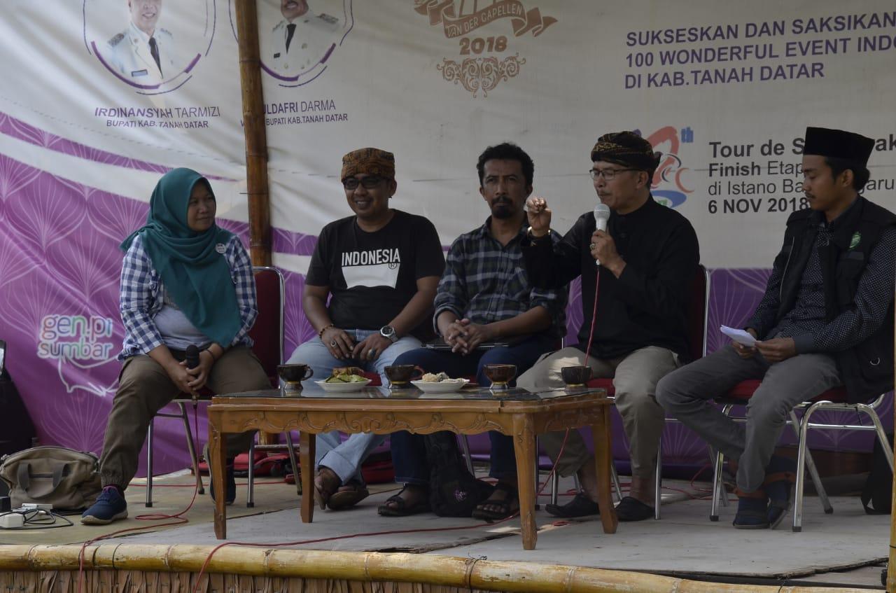 Diskusi pagi di Pasar Van Der Capellen dengan tema Populasi Burung Kuntul di Kota Batusangkar, Minggu 3 Maret 2019