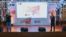 (Ki-ka) Direktur Human Capital Management Telkomsel Irfan A Tahrir dan Direktur Sales Telkomsel Sukardi Silalahi saat Kick-off The NextDev 2019 di Universitas Padjajaran Bandung, (23/3).