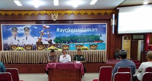 Rapat Koordinasi Tentang Persiapan Penyelenggaraan Pesta Pantai Pariaman di Aula Balai Kota Pariaman Selasa 21 Mei 2019.