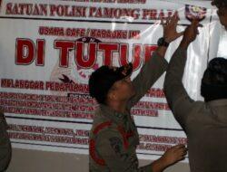 Satpol PP Segel 11 Kafe Tak Berizin di Padang