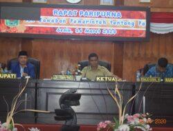 Wabup Yulfadri Nurdin Wakili Jawaban Pemerintah Terhadap Pandangan Umum Fraksi DPRD Kabupaten Solok