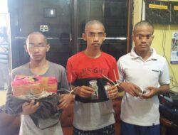 Akibat Penyalahgunaan Narkoba, 3 Orang Pemuda Diringkus Polisi