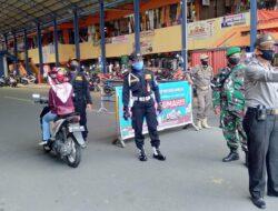 Trantib Pasar Payakumbuh Terus Tegakkan Protokol Covid-19 Di Normal Baru