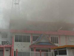Penyebab Kebakaran Gedung Telkom Pekanbaru Masih Diselidiki