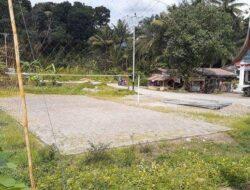 Semen Padang Bantu Pembangunan Lapangan Voli Masyarakat di Lubuk Kilangan