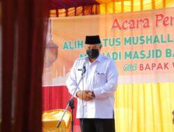 Wako Solok Resmikan Masjid Baitul Maqdis