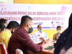 Wawako Solok Silaturrahmi Bersama Awak Media