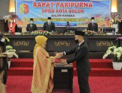 Wako dan Wawako Hadiri Pengangkatan Pimpinan DPRD Kota Solok