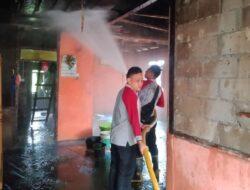 Si Jago Merah Lahap Rumah Permanen di Dharmasraya