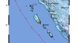 Gempa 5.8 SR Guncang Mentawai dan Sekitarnya