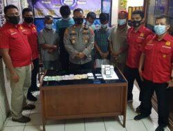 Bermain Judi Rolet Online, Lima Pemuda Ditangkap Polsek Padang Selatan