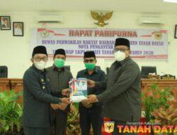 LKPJ Pemerintah Kabupaten Tanah Datar disampaikan dalam Rapat Paripurna DPRD