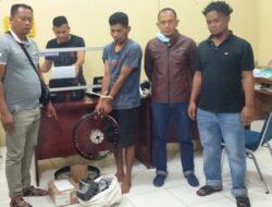 Satreskrim Polres Pasbar Amankan Pelaku Pencurian di Bengkel