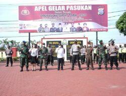 Polres Asahan Laksanakan Apel Pasukan OPS Ketupat Toba 2021