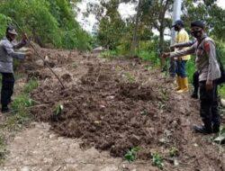 Satu Unit Excavator Bersihkan Jalan Tertimbun Longsoran di Nagari Limau Gadang