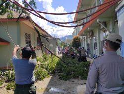 Angin Kencang Akibatkan Pohon Tumbang Timpa Atap Rumah Sakit