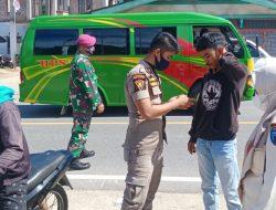 Satgas Jaring 230 Pelanggar Prokes Covid-19 di Pasar Tarusan