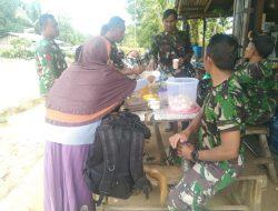 Satgas TMMD Regtas Ke-111 Kodim 1202/Skw Makan Bersama Orang Tua Asuh Sebelum Kembali Ke Satuan Masing-Masing.