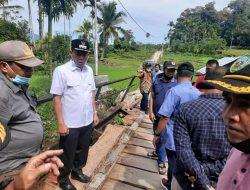 Wabub Pasaman Tinjau Lokasi Jembatan yang Rusak
