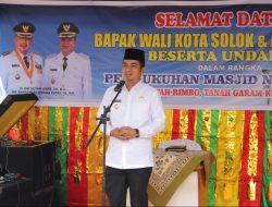 Wawako Solok Resmikan Masjid Nurul Islam