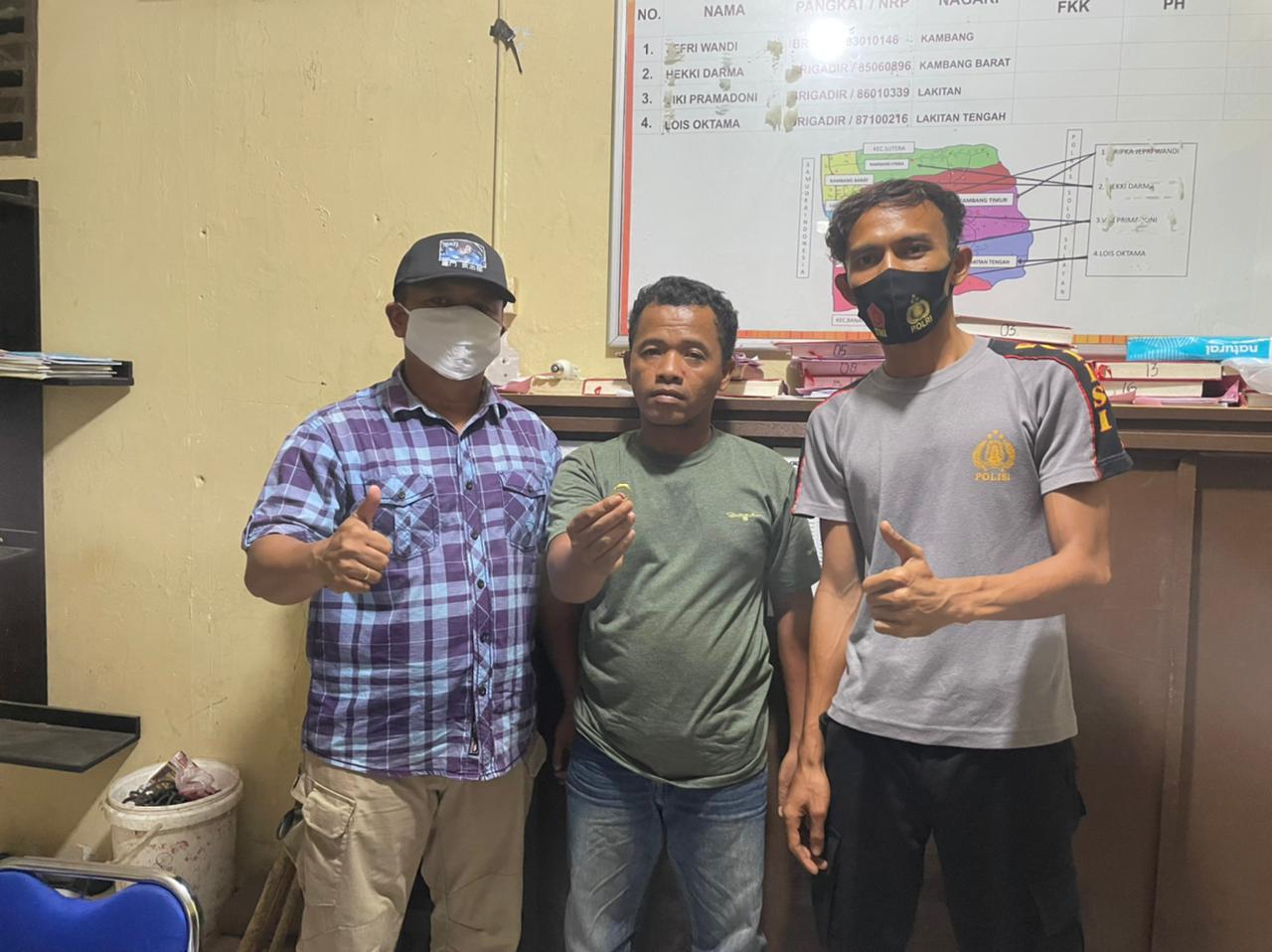Team Black Eagle Polsek Lengayang Amankan Tersangka Pencurian Emas Bermoduskan Dukun