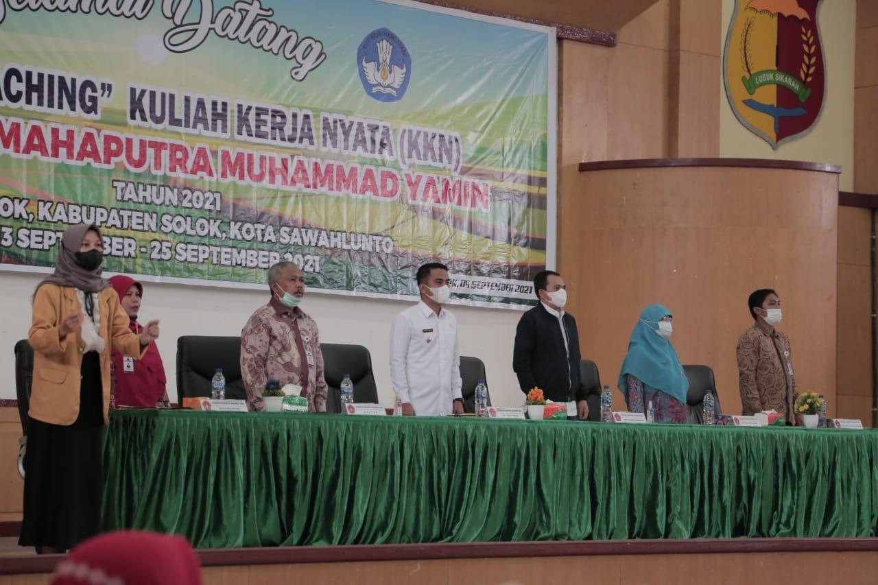 Wawako coaching KKN Universitas Mahaputra Muhammad Yamin Solok