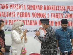 Wako Buka Seminar Konsultasi Publik Kajian Evaluasi Perda Tentang Etika Pemerintah Daerah Kota Solok