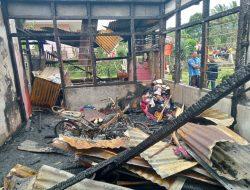 Rumah Penjaga Sekolah Hangus Terbakar Di Kabupaten Solok